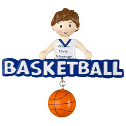 Buy Basketball Boy Personalized Sports Ornament from OrnamentPlus Personalized Christmas Ornaments Shop