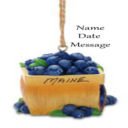 Buy Blueberry Basket Personalized Travel Ornament from OrnamentPlus Personalized Christmas Ornaments Shop