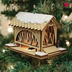 Buy Covered Bridge Ginger Cottage from OrnamentPlus Personalized Christmas Ornaments Shop