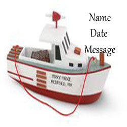 Buy Lobster Boat Personalized Wood Travel Ornament from OrnamentPlus Personalized Christmas Ornaments Shop