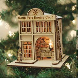 Buy North Pole Engine Company Ginger Cottage from OrnamentPlus Personalized Christmas Ornaments Shop