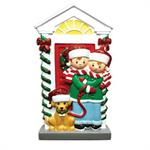 Buy Family with Dog Couple Personalized Family of 2 Ornament from OrnamentPlus Personalized Christmas Ornaments Shop