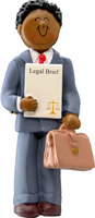 Buy Lawyer Man with Dark Skin Personalized Occupation Ornament from OrnamentPlus Personalized Christmas Ornaments Shop