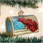 Buy Lobster Trap Blown Glass Ornament from OrnamentPlus Personalized Christmas Ornaments Shop