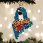 Buy Maine State Blown Glass Ornament from OrnamentPlus Personalized Christmas Ornaments Shop