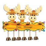 Buy Moose Family of 3 Personalized Family Ornament from OrnamentPlus Personalized Christmas Ornaments Shop