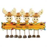 Buy Moose Family of 4 Personalized Family Ornament from OrnamentPlus Personalized Christmas Ornaments Shop