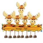 Buy Moose Family of 5 Personalized Family Ornament from OrnamentPlus Personalized Christmas Ornaments Shop